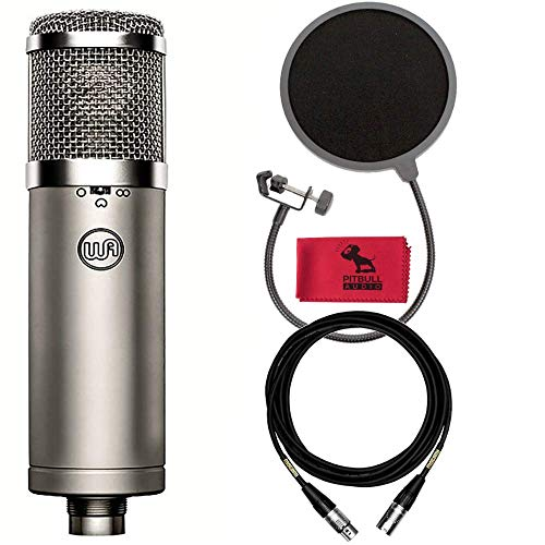 - Warm Audio WA-47jr FET Condenser Microphone with 15' Mogami XLR Cable, Pop Filter, Pitbull Audio Dust Cloth