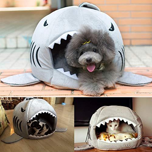 Fossrn Cueva Camas para Gatos y Perros Mascota - Camas para Perros Pequeños con Formas Tiburon: Amazon.es: Deportes y aire libre