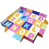 Baby Play Mat with Fence, Foam Letters, and Tiles. Playmat for Kids,...