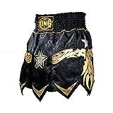 Top King Muay Thai Fight Boxing Gladiator Black Shorts 041