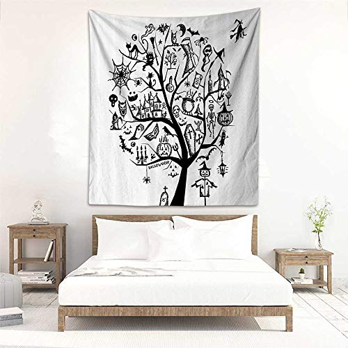 Godves DIY Tapestry Halloween Decorations Sketch Style Halloween