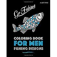 Coloring Book For Men: Fishing Designs