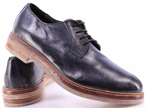 Zapatos Hombres MOMA 20503-2F Cusna Uniform Piel Azul Vintage Made Italy Nuevo
