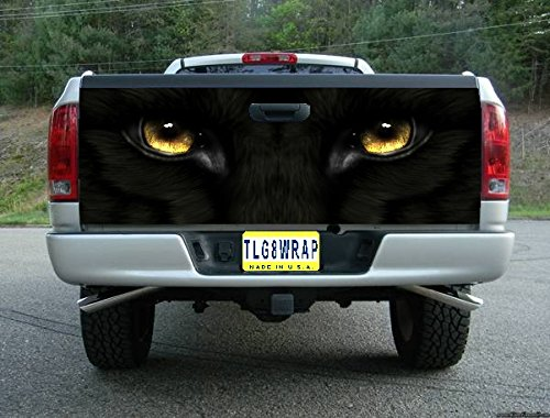 (Avery T162 BLACK PANTHER EYES TAILGATE WRAP Vinyl Graphic Decal Sticker F150 F250 F350 Ram Silverado Sierra Tundra Ranger Frontier Titan Tacoma 1500 2500 3500 Bed Cover tint image)