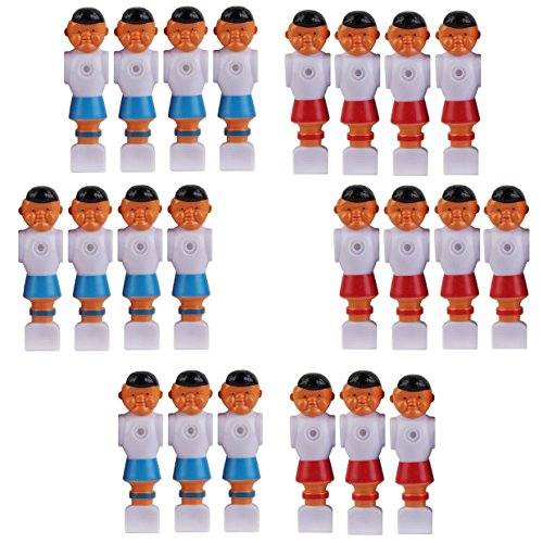 11 Red and 11 Blue Old Style Foosball Men 22 Players w/Ears Fits 5/8 inch Rods