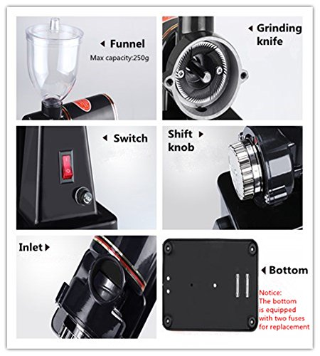 Welljoin Electric Coffee Grinder Household electric coffee bean grinder Small commercial grinder (220V)