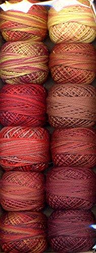 Valdani Size 8 Perle Cotton Embroidery Thread Fire Balls Collection (PC8-FireBalls) (Cotton Balls Perle)