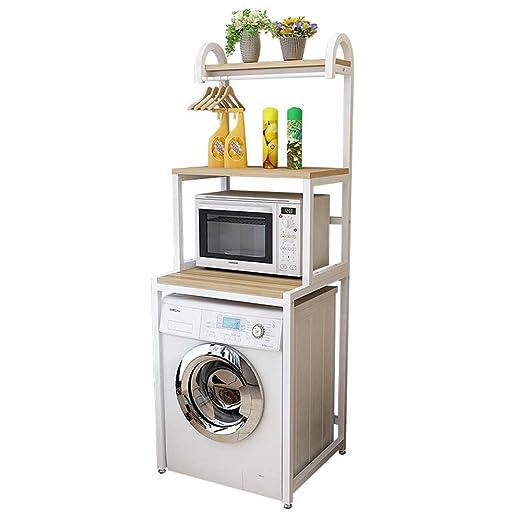 Estantería- Rack de almacenamiento de baño de estante de lavadora ...