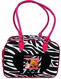 Cheap Zebra Stripe Nylon Pet Carrier Dog Cat 10 Lbs Pink Trim