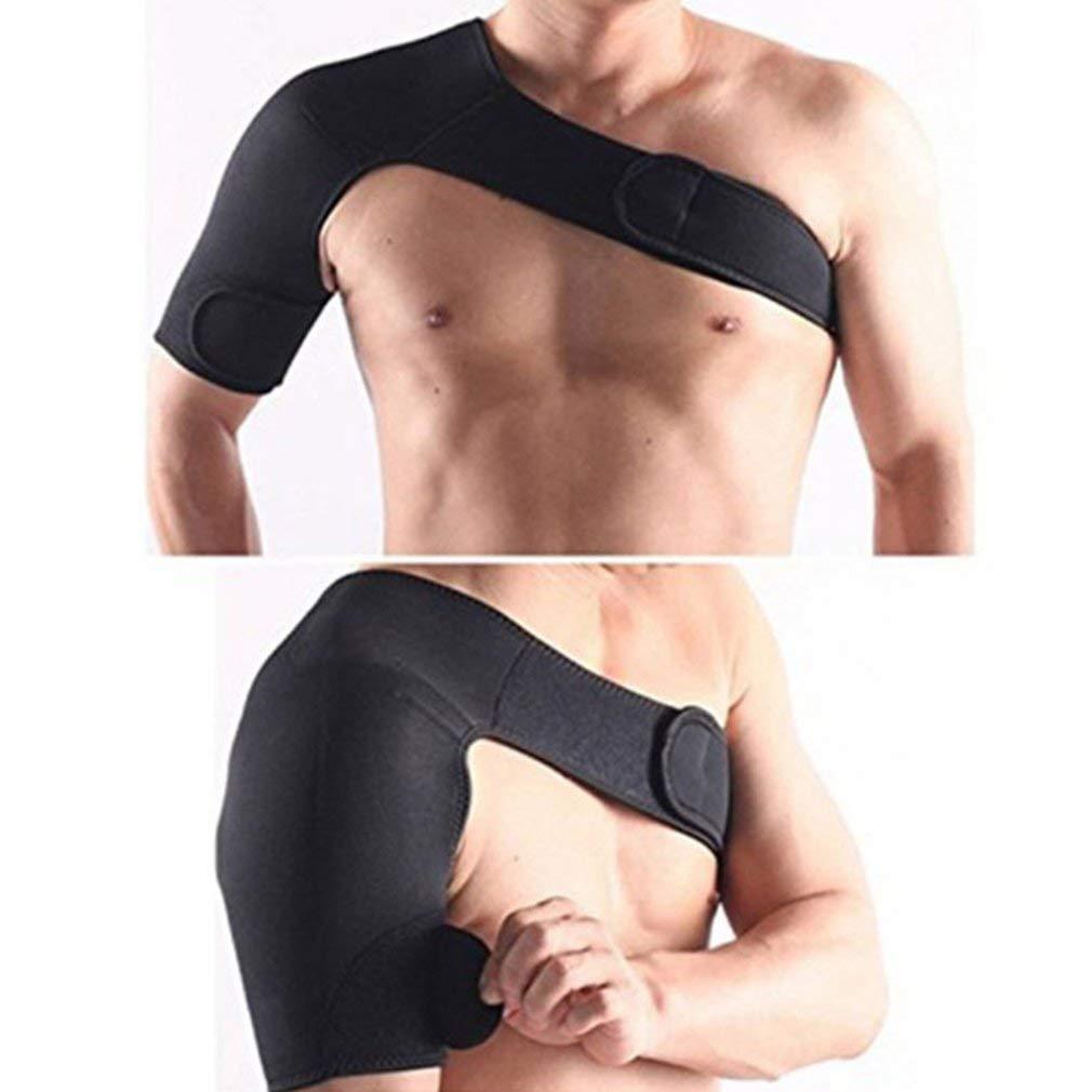 Yofafada Adjustable Neoprene Brace Dislocation Arthritis Pain Shoulder Support Strap Black