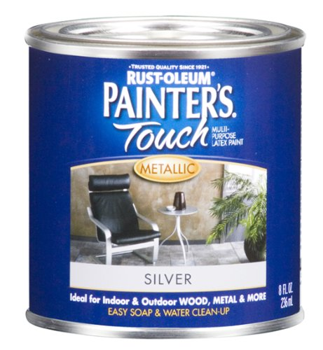 rust-oleum-240288-painters-touch-1-2-pint-latex-satin-silver-metallic
