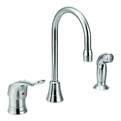Moen Commercial MDura Single Handle MultiPurpose Faucet With - Moen commercial bathroom faucets
