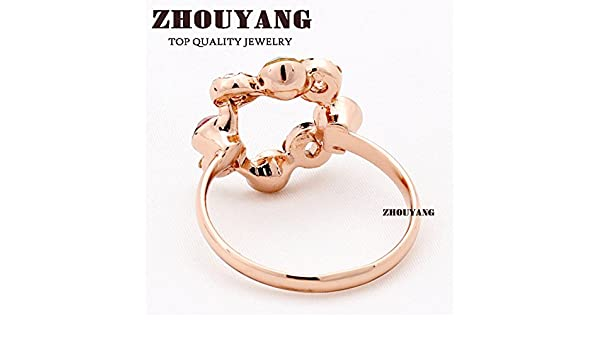 Slyq Jewelry ZYR337 Ferris Wheel Ring Rose Gold Color womens engagement rings