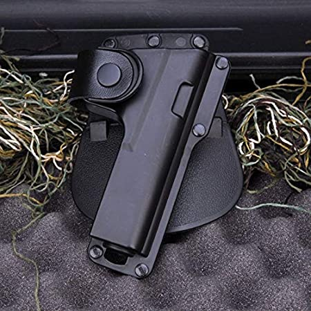 L-Yune, Accesorio de Pistola de Caza Accesorio Funda de cinturón Funda de Airsoft for Ruger SR9 con láser de luz for Rugar for Glock 17 Etc (Color : Negro)