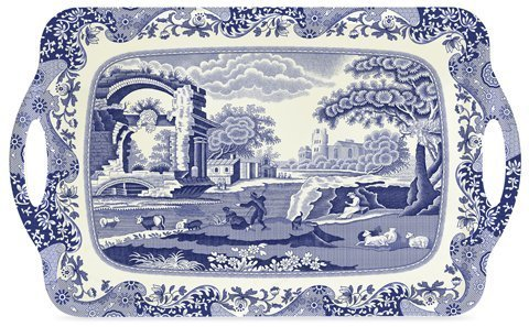 Spode Blue Italian Large Melamine Handled Tray ()
