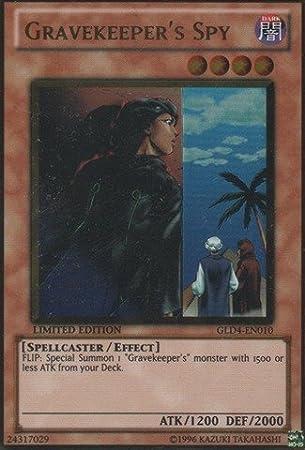 YU-GI-OH GOLD RARE GRAVEKEEPER/'S SPY PGLD-EN082 1st EDITION