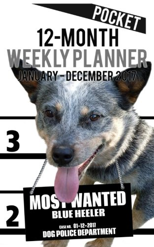 Download 2017 Pocket Weekly Planner - Most Wanted Blue Heeler: Daily Diary Monthly Yearly Calendar (5inch x 8inch Dog Planners) (Volume 32) PDF