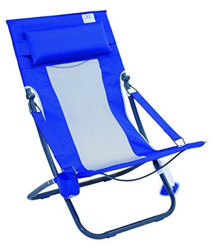 Rio Beach Portable Compact Fold Breeze Beach Sling Chair, Bl