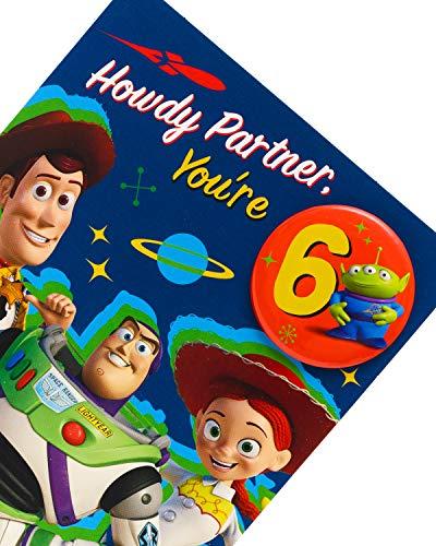 Toy Story 4 - Tarjeta de cumpleaños con insignia de Howdy ...