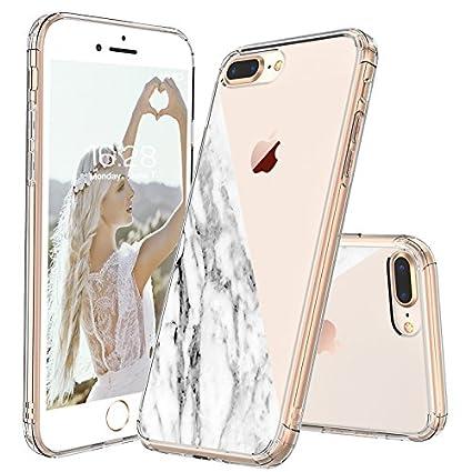 I Phone 7 Plus Case, I Phone 8 Plus Case Clear, Mosnovo Half White Marble Clear Design Printed Plastic Hard Case With Tpu Bumper Protective Case Cover For I Phone 7 Plus (2016) / I Phone 8 Plus (2017) by Mosnovo