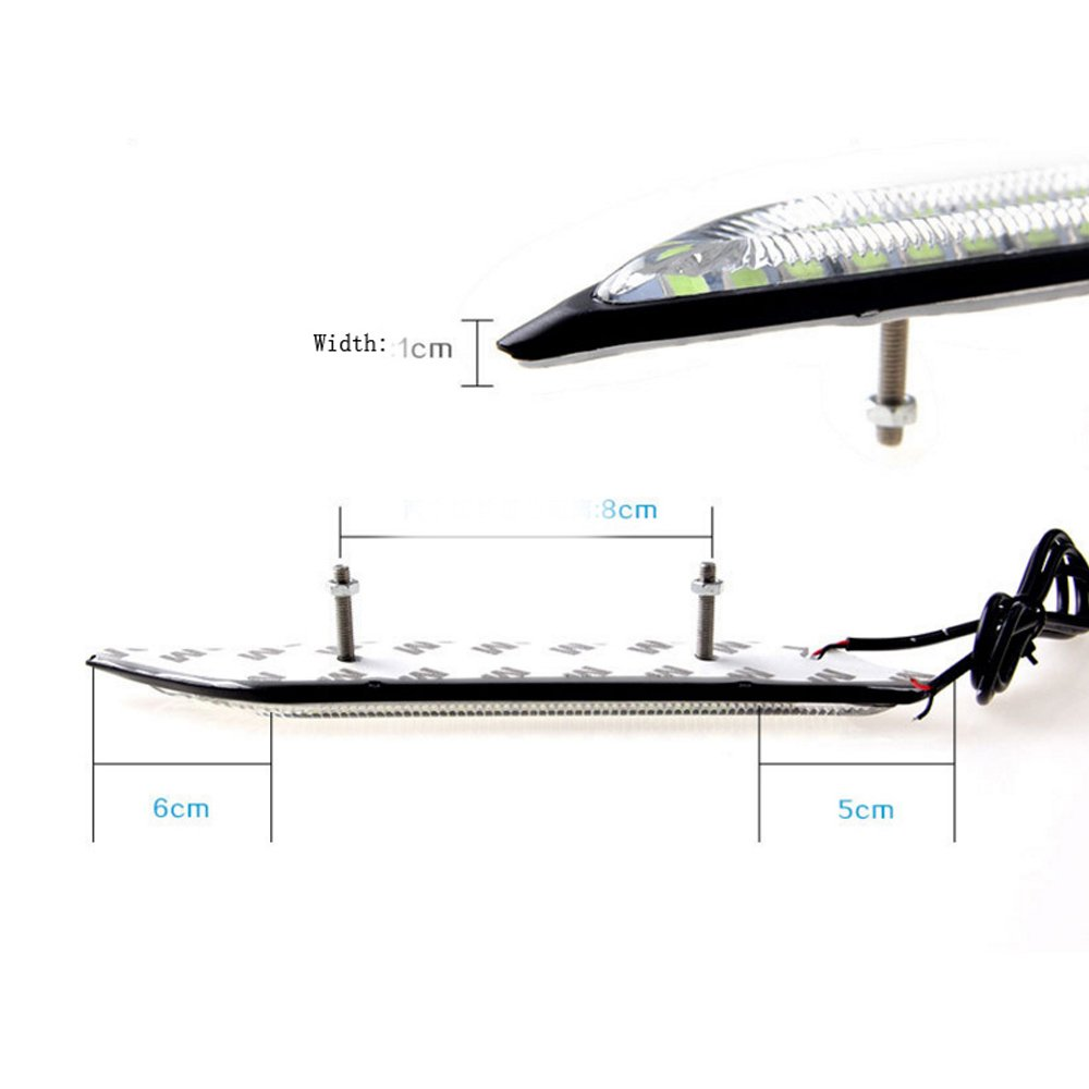 HopeU5/® One Pair impermeabilizzano le luci di nebbia dellautomobile LED freni diurni a giorno freno di frenata e fonte di sorgente di guida di guida bianco puro