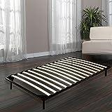 Acazon Twin Size Wood Slats Metal Bed Frame 4 Legs 600lbs Bedroom Furniture ( US STOCK )