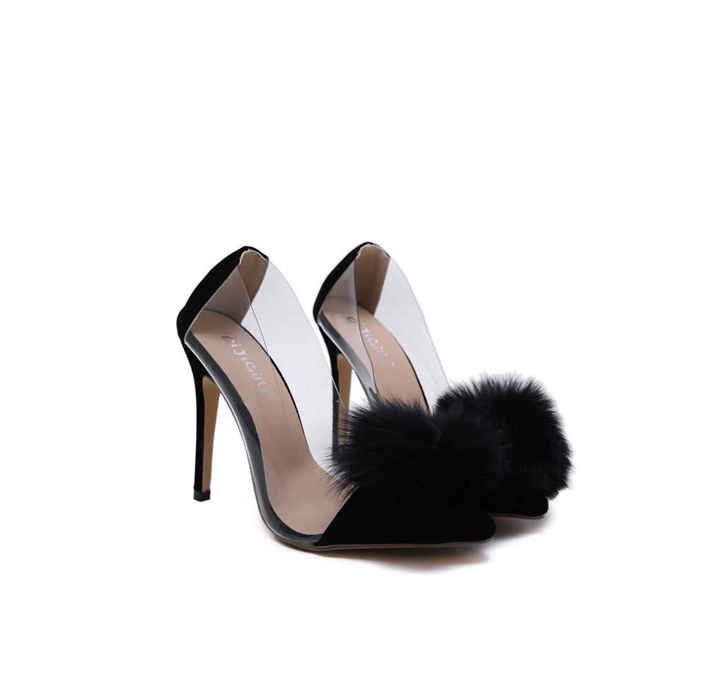 Frauen Frauen Frauen Transparent Pointed Toe Stiletto High Heels Slip On Pumps Office Wedding Party Bridal Court Schuhe Größe dbdd79