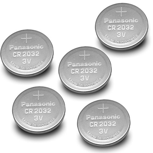 Panasonic (5PCS) - CR2032 3V Lithium Coin Cell Battery (3 Volt Coin Cell Battery)