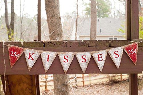 Valentines Day Decor, Valentines 25 cent Kisses Banner]()