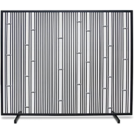 Pilgrim Home And Hearth 18319 Arden Single Panel Screen Polished Stainless Black