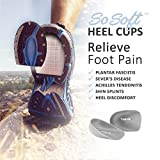Tuli's So Soft Heel Cups - Shock Absorption Cushion Insert for Plantar Fasciitis and Heel Pain Relief, Large