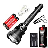 SKYBEN Klarus XT32 Kit 1200 Lumens CREE XP-L HI V3 LED 1000-meter Range Tactical Hunting Searchlight Super-bright Flashlight with Holster,O-ring,18650 Battery x 2,Battery Charger and USB Light Review