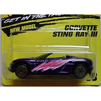 MATCHBOX SUPER FAST PURPLE CORVETTE STING RAY III #38: Toys & Games