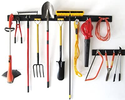 WallPeg 8 foot garden tool organizer - garage wall storage