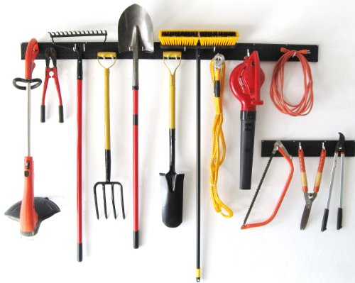 WallPeg 8 foot garden tool organizer - garage wall storage (Shovel Rack Wall)