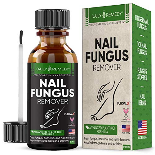 DAILY REMEDY Premium Anti-Fungus Nail Treatment – Antifungal Toe & Toenail Health Care Treatment with Natural Organic Essential Oils – Repairs & Nourishes Damaged Nails & Cuticles – Made in USA