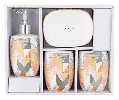 Miamour 4 Piece Ceramic Bathroom Accessories  (MMCBSYMC001011)