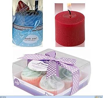Belleza regalo conjuntos para las mujeres regalo único hecho a mano Fruity Plum toalla de baño bombas de mujer y rojo Apple perfumada vela votiva unidades: ...