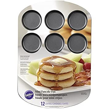 Wilton 2105-8456 12 Cavity Pancake Pan, Mini by Wilton