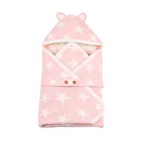 Mimixiong - Saco de dormir para bebé (0-24 meses) rosa rosa