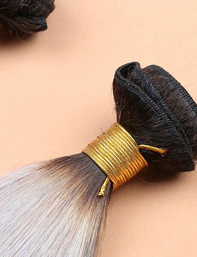 Cheveux Gris 16 Faisceaux Jff 1b 3 De 18 Slove Malaisien 14 Vierge Humaine Cher Pas Argent Ombre 7a Raides q5105