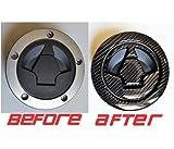 Kawasaki ninja 650 1000 Z1000 Z750 Real 3k Carbon Fiber Fuel Tank Cap Filler Cover Pad