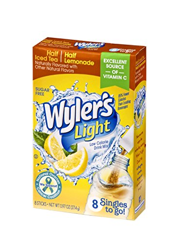 Wyler's Light Singles To Go Powder Packets, Water Drink Mix, Half Iced Tea / Half Lemonade, 96 Single Servings (Pack of 12) ()