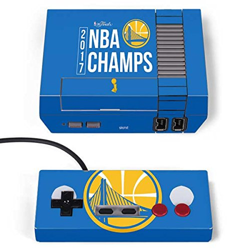 Skinit NBA Golden State Warriors NES Classic Edition Skin - Golden State Warriors 2017 NBA Champs Design - Ultra Thin, Lightweight Vinyl Decal Protection -