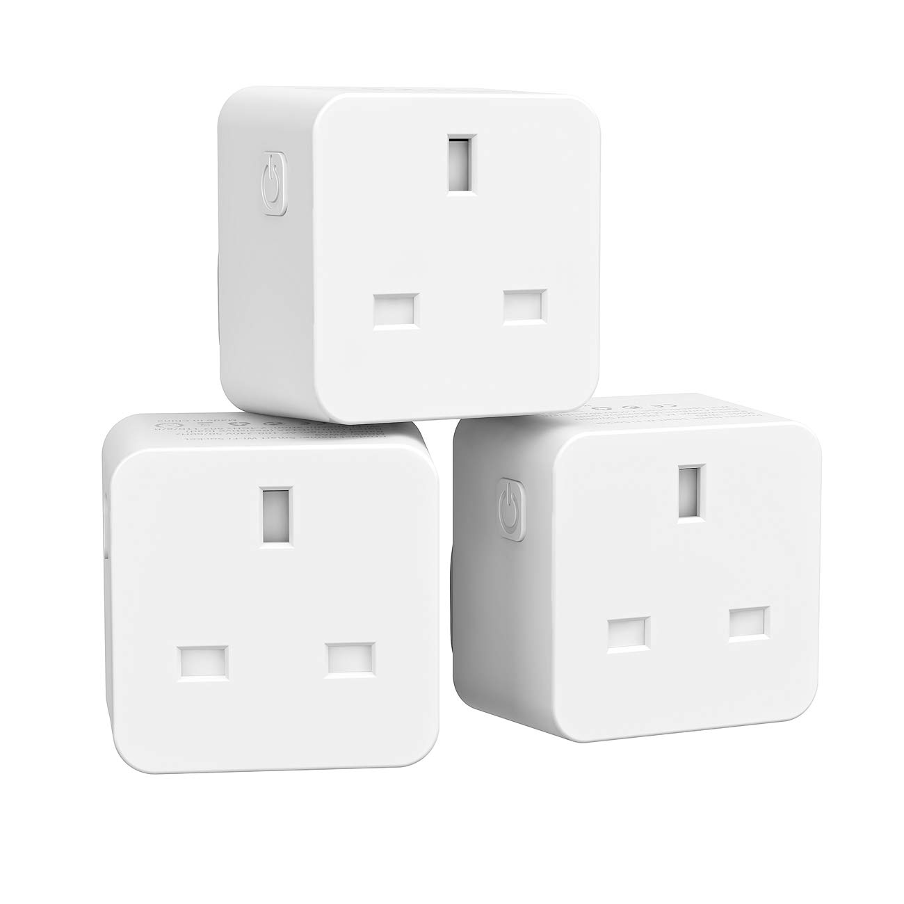 EXTSUD Smart Plug WiFi Plug, Wireless Smart Socket Timer Switch Power Outlet Compatible with Alexa Echo Google Home Assistant, Remote Control Your Devices by Smartphone (3 Pack)