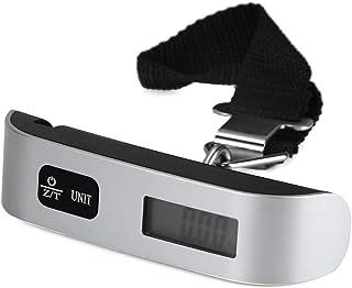 ZHANGYUGE Portatile LCD Hostweigh Bagagli Mini Bilancia Elettronica termometro 50kg capacità Digitale di Appendere Il Dispositivo di pesatura