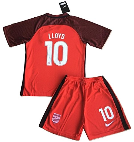 2017-2018 Carli Lloyd #10 New USA National 3rd Jersey and Shorts for Kids/Youth (11-13 Years Old)