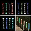 Solar 4 Tube Bubble Stake LED Light For Garden Pathway Lawn Patio