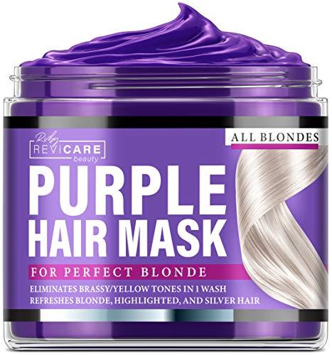 Purple Hair Mask – Made in USA Hair Toner w/ Retinol, Avocado Oil & Silk Proteins for Blonde Hair, Ash & Platinum Hair…