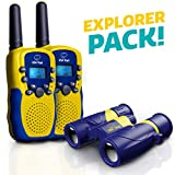 USA Toyz Walkie Talkies with Binoculars for Kids - Vox Box Voice Activated Walkie Talkies for Boys or Girls, Long Range Walkie Talkie Toys Set